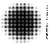 abstract halftone dotted... | Shutterstock .eps vector #684396211