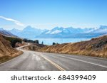 scenic road to mount cook... | Shutterstock . vector #684399409