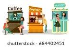 vector set of street food... | Shutterstock .eps vector #684402451