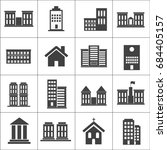 buildings and houses icons....