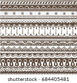 hand drawn ornament  border | Shutterstock .eps vector #684405481