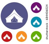 tent with a triangular roof... | Shutterstock .eps vector #684406024