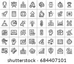 outline icons collection for... | Shutterstock .eps vector #684407101