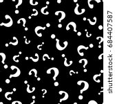 question mark seamless pattern .... | Shutterstock .eps vector #684407587