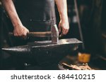 close up of blacksmith manually ... | Shutterstock . vector #684410215