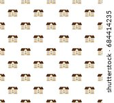 two storey house pattern   Shutterstock .eps vector #684414235
