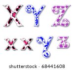 colorful 3d swirl xyz letters...