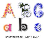 colorful 3d swirl abc letters...