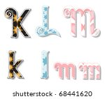 colorful 3d swirl klm letters...