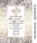 vintage baroque style wedding... | Shutterstock .eps vector #684434371