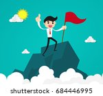 success and achievement concept.... | Shutterstock .eps vector #684446995