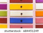 colorful various table drawers.   Shutterstock . vector #684451249