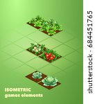 isometric  set stage of growth... | Shutterstock .eps vector #684451765