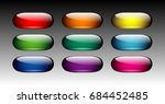 set of oval multi color... | Shutterstock .eps vector #684452485
