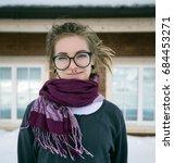 portrait of stylish woman in...   Shutterstock . vector #684453271