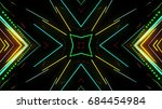 abstract laser lights | Shutterstock . vector #684454984