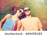 love and people concept   happy ... | Shutterstock . vector #684458185
