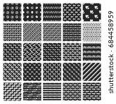 big bundle of 50 vector hand... | Shutterstock .eps vector #684458959