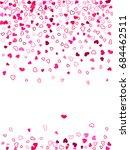 heart shape outline love... | Shutterstock .eps vector #684462511