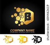 hexagon letter b logo design. | Shutterstock .eps vector #684462619