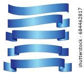 blue ribbon   Shutterstock .eps vector #684462817
