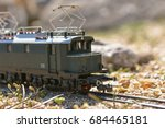 model electric locomotive in... | Shutterstock . vector #684465181