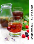summer cold tea  ice with...   Shutterstock . vector #684465205