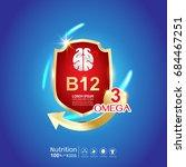 kids omega calcium and vitamin  ... | Shutterstock .eps vector #684467251