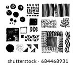 hand drawing brush stroke. set... | Shutterstock .eps vector #684468931