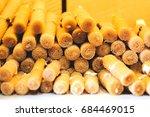 hand made wax candles imitation ...   Shutterstock . vector #684469015