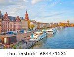 frankfurter dom cathedral in... | Shutterstock . vector #684471535