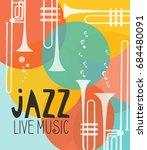 vector poster for the jazz... | Shutterstock .eps vector #684480091
