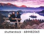 family travel slovenia  europe. ... | Shutterstock . vector #684482065