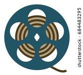 film vector flat icon | Shutterstock .eps vector #684483295