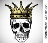 king of death. portrait of a... | Shutterstock .eps vector #684484354