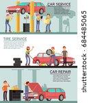 car services and auto garag... | Shutterstock .eps vector #684485065