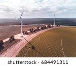 west hills wind farm  western... | Shutterstock . vector #684491311