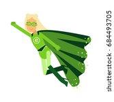 ecological superhero blonde... | Shutterstock .eps vector #684493705