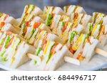 healthy mixed sandwich... | Shutterstock . vector #684496717