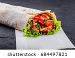 vegetarian burrito wraps from... | Shutterstock . vector #684497821