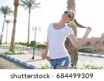 photo of style pretty woman in... | Shutterstock . vector #684499309