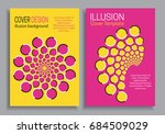 yellow pink brochure cover... | Shutterstock .eps vector #684509029