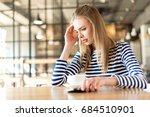 portrait of caucasian woman... | Shutterstock . vector #684510901