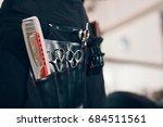 closeup of scissors and combs... | Shutterstock . vector #684511561