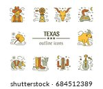 vector texas colorful  outline... | Shutterstock .eps vector #684512389