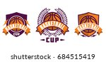 set of basketball sport icons ... | Shutterstock .eps vector #684515419
