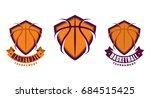 set of basketball sport icons ... | Shutterstock .eps vector #684515425