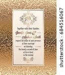 vintage baroque style wedding... | Shutterstock .eps vector #684516067