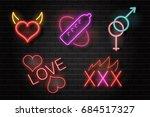 vector set of realistic... | Shutterstock .eps vector #684517327