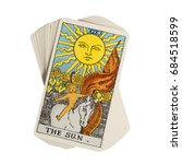 deck of tarot cards on white... | Shutterstock . vector #684518599